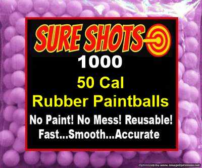 50 Cal Rubber Paintballs 1000 Pack
