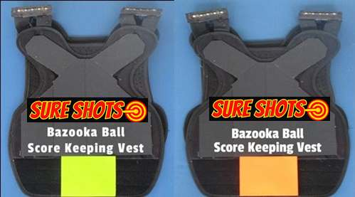 Bazooka Ball Score Keeping Combat Vest orange & Yellow