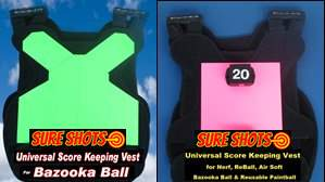 Bazooka Ball Score Keeping Vests