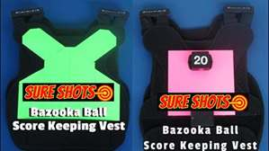 Green & Hot Bazooka Ball Score Vest