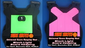 Black Light Paintless Paintball Score Keeping Games