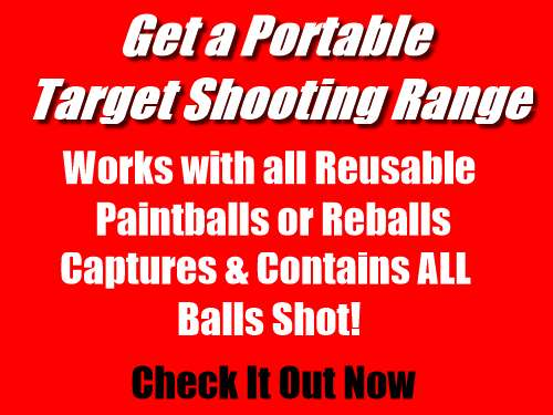 Reusable, Paintless, Rubber, Paintball Target