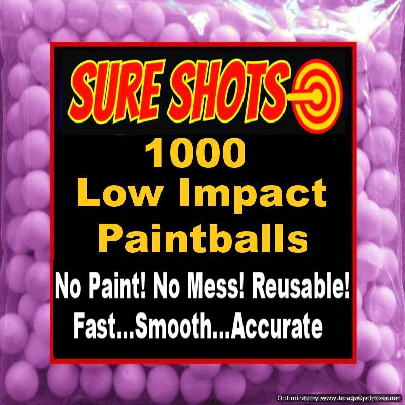 1000 Paintless Paintballs 50 Caliber