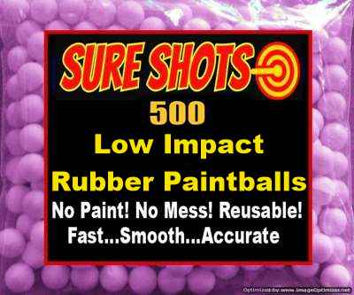 Low Impact Rubber Paintballs 500 Pack - Christmas 2019