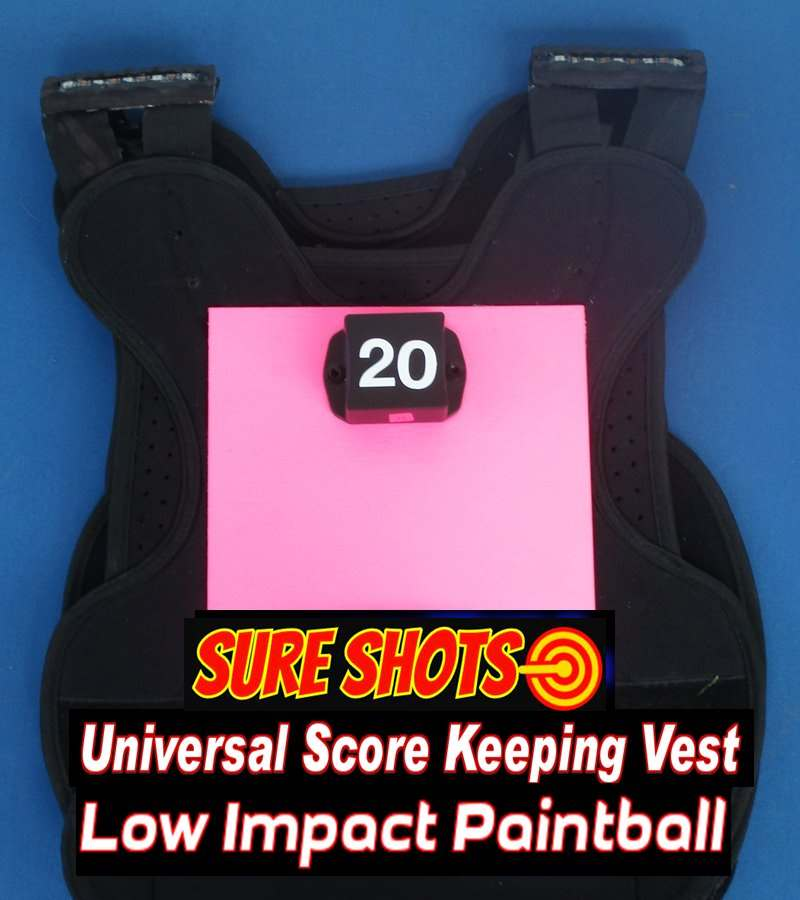 20 Low Impact Paintball Score Keeping Vests