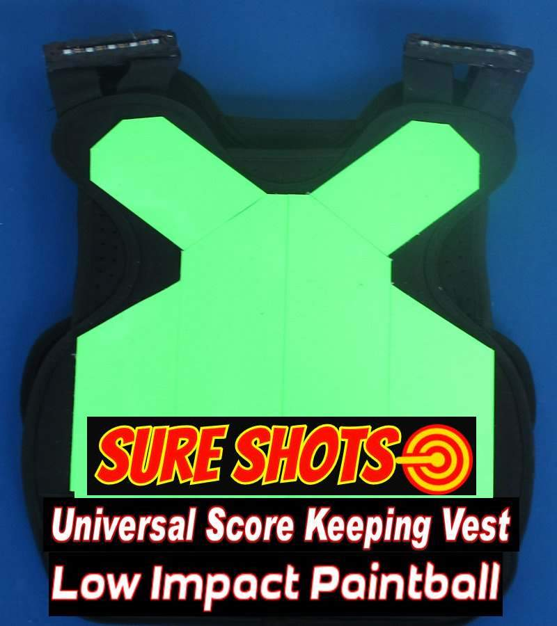 Low Impact Paintball Score Keeping Vests - 10 Pack