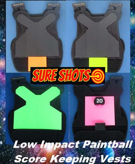 Low Impact Paintball Score Keeping Vests