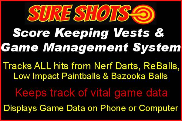 Universal Score Keeping for Nerf, Low Impact Paintball,Airsoft