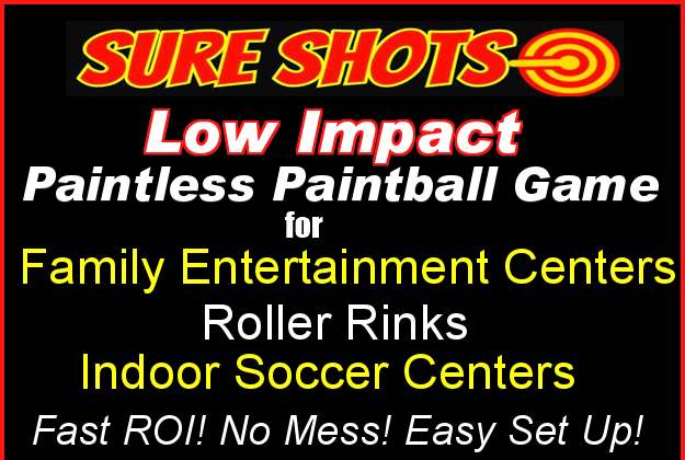 Low Impact Paintless Paintball for Family Entertainment, Roller Rinks, Indoor Soccer