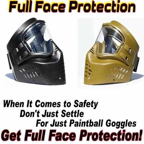 Low Impact Paintball Face Protection Mask