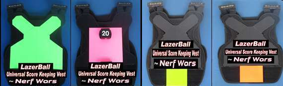 Nerf Score Keeping Vests in Colors