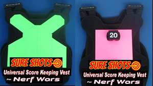 Nerf War Score Keeping Vests - Black Light