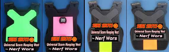 Nerf Vests-Score Keeping- Four Colors