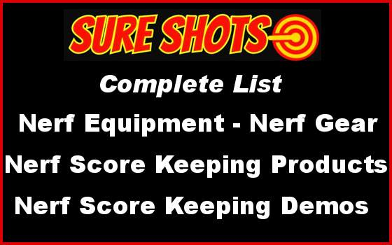 Nerf Equipment Nerf-Products Complete List.