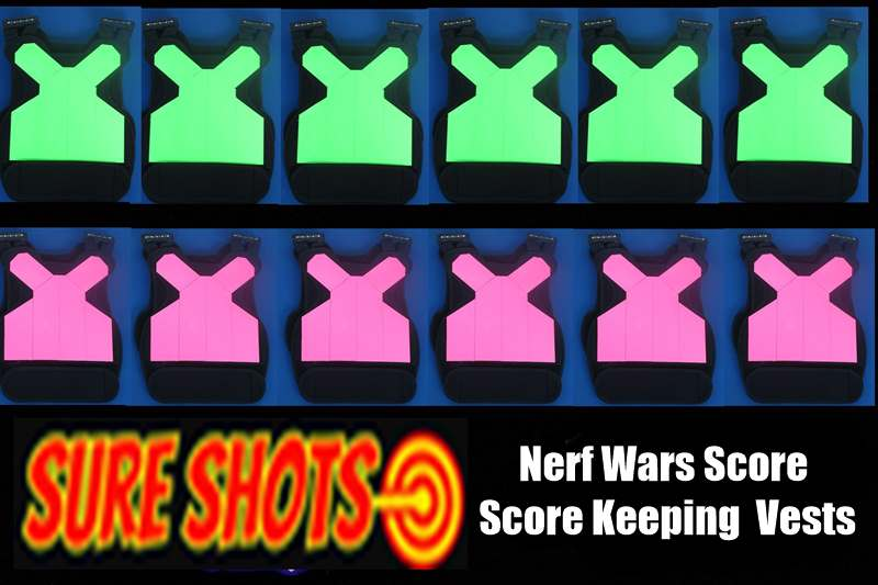 20 Nerf Score Keeping Vests for Nerf Wars