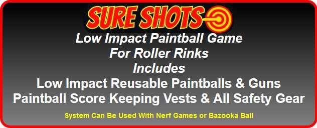 Low Impact Paintball Game For Roller Rinks