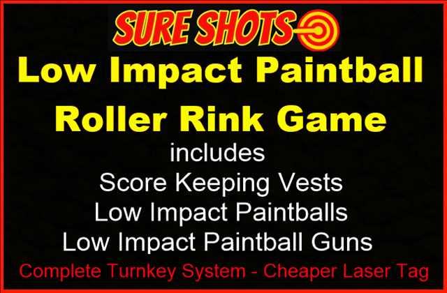 Low Impact Paintball Roller Rink Game