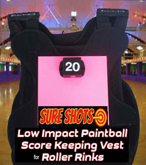 20 Low Impact Paintball Score Keeping Vests for Roller Rinks