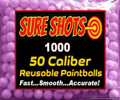 1000 Rubber Balls for Paintball - 50 cal size