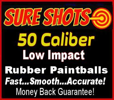 Rubber Paintballs 50 Caliber