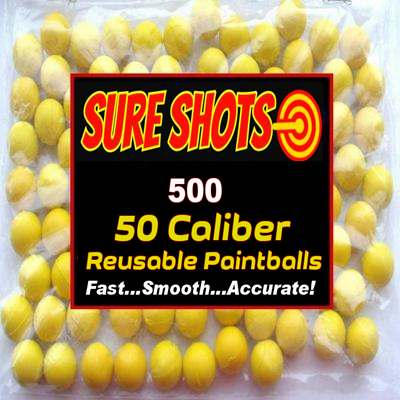.68 Cal Rubber Balls for Paintball - 500 Bag