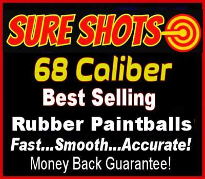 Rubber Paintballs 68 Caliber