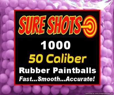 1000 Rubber Paintballs for 50 Cal Paintball Marker