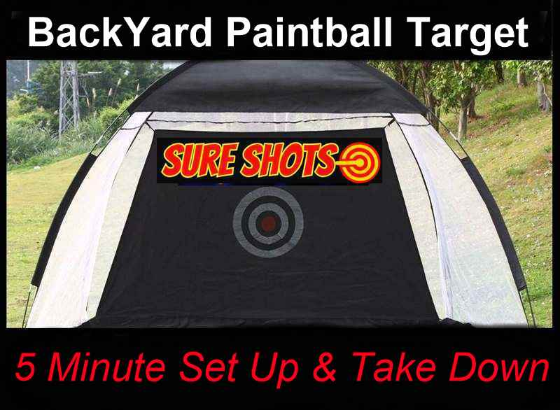 Back Yard Paintball Target