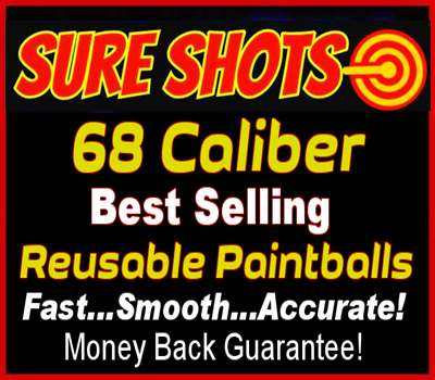 Reusable Paintballs 68 Caliber
