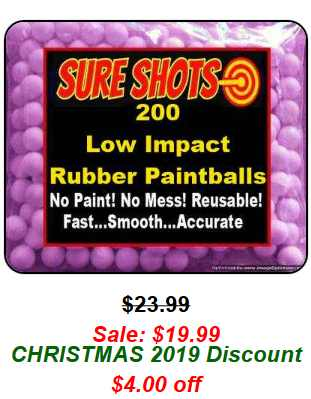 200 50 Cal Low Impact Rubber Paintballs
