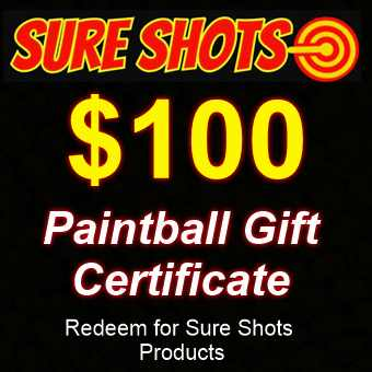 $100 Paintball Gift Card by Sure Shots