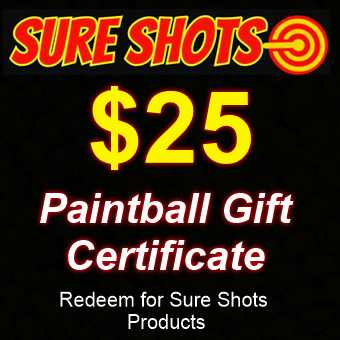 $25 Paintball Gift Card by Sure Shots