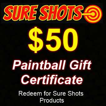 $50 Paintball Gift Card by Sure Shots