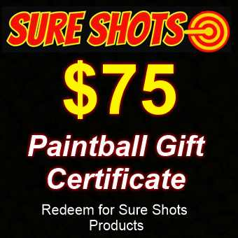 $75 Paintball Gift Card by Sure Shots