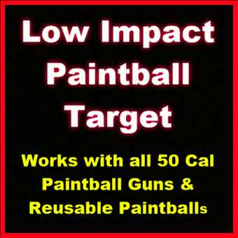 Low Impact Paintball Target