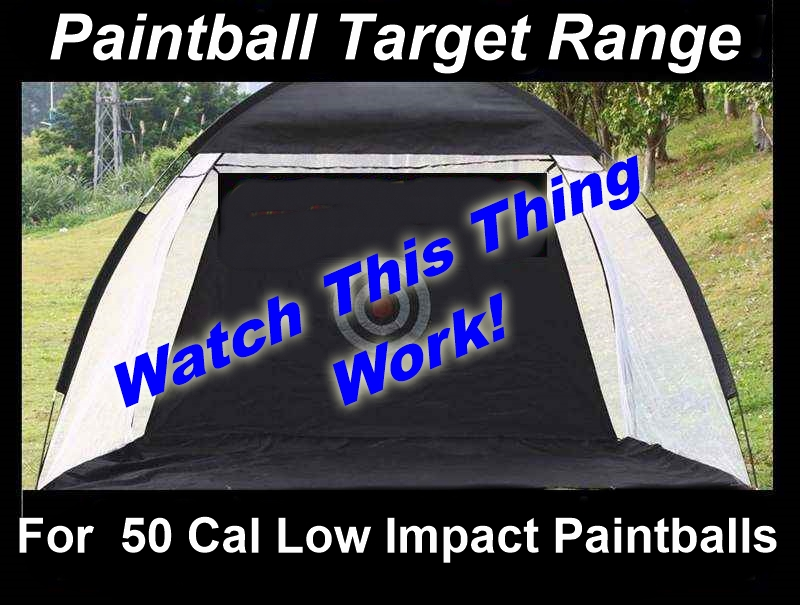 Paintball Target Range for 50 Cal Low Impact Paintballs