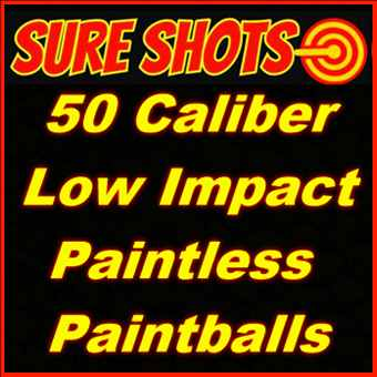 50 Caliber Low Impact Paintless Paintballs