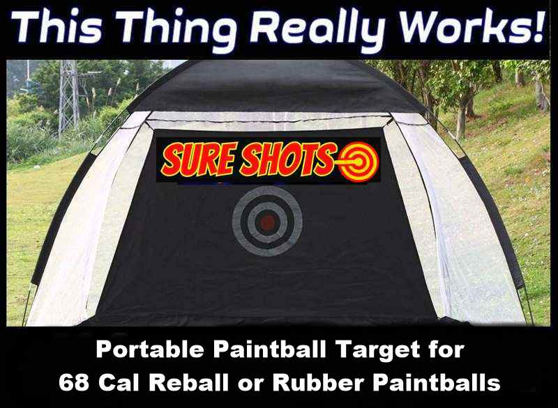 Portable Paintball Target for 68 Cal Paintballs