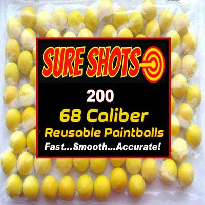 200 68 Caliber Reusable Paintballs