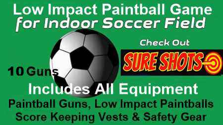 Low Impact Paintball for Soccer Arena - 10 Score Keeping Vest