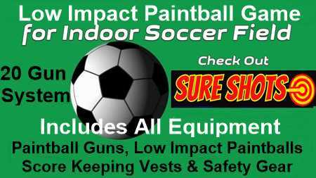 Low Impact Paintball Game for Soccer Arena - 20 Vest