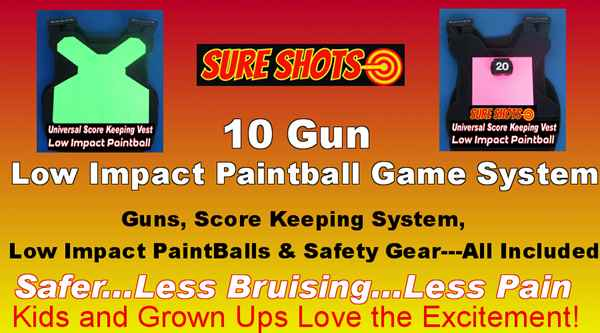 Low Impact Paintball for F.E.C. - 10 Score Keeping Vests