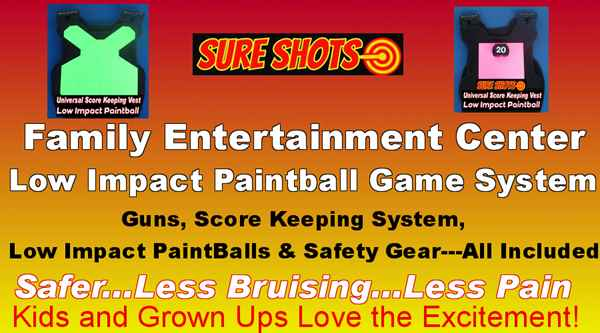 Low Impact Paintball for Family Entertainment Centers