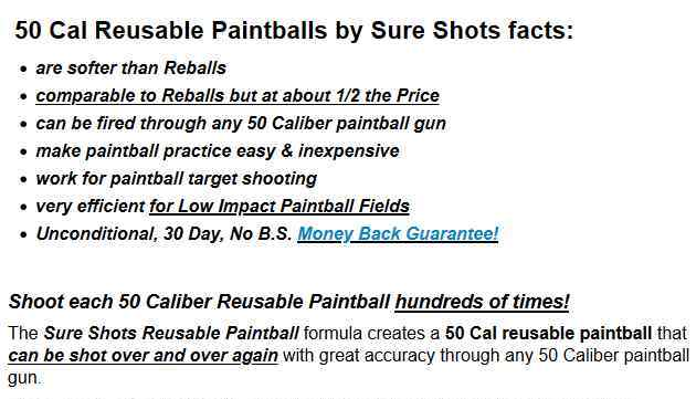 50 Caliber Paintball Information