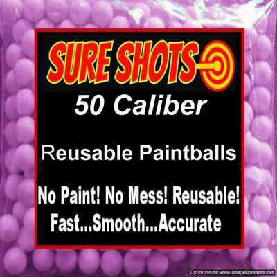 50 Caliber Reusable Paintballs