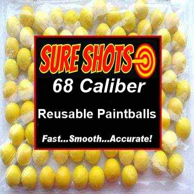 68 Caliber Reusable Paintballs