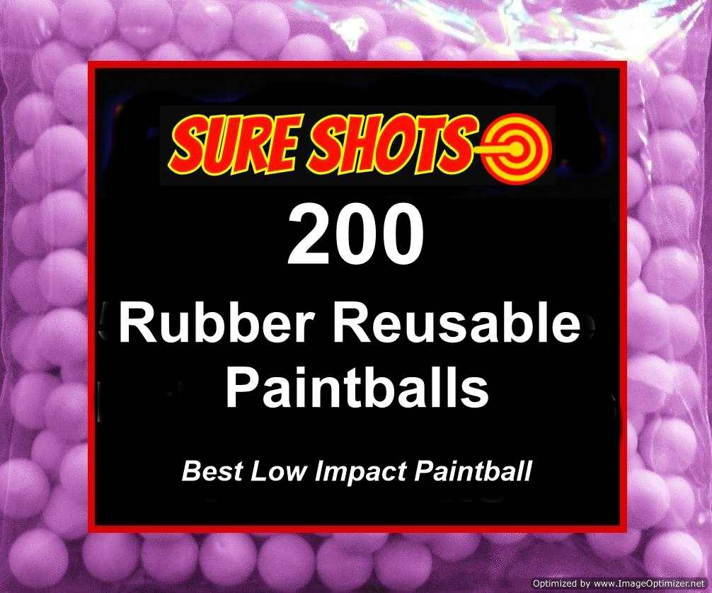 Rubber Reusable Paintballs 50 Cal 200 Pack