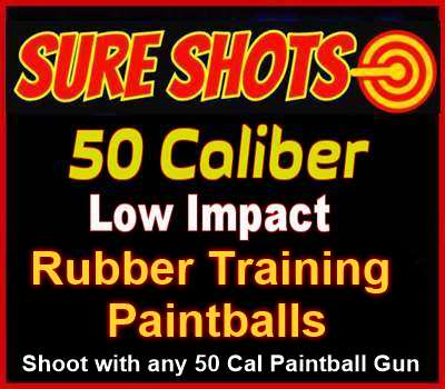 50 Caliber Rubber Training Paintballs