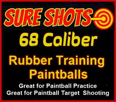 Rubber Training Paintballs 68 Cal