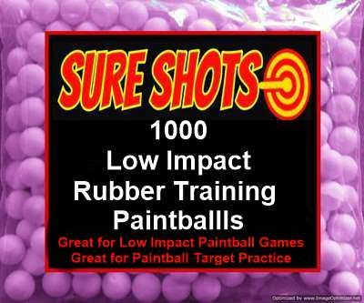 1000 50 Caliber Rubber Training Paintballs